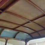 Weitere Arbeiten am Dach der Mannschaftskabine
